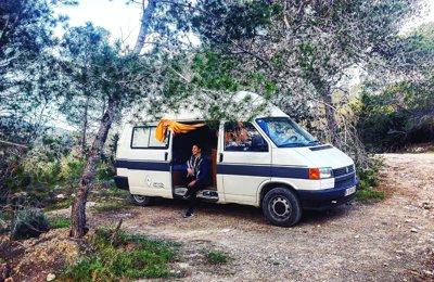 Furgoneta camper Volskwagen Transporter En alquiler en Miramar