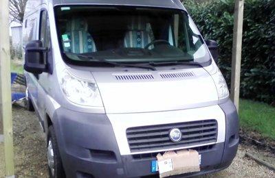Fourgon aménagé Fiat Trigano en location à Pontchâteau