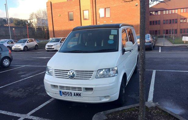 Converted van Volkswagen Transporter rental