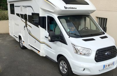 RV Low profile Benimar Tessoro 463 For rent in Lécousse