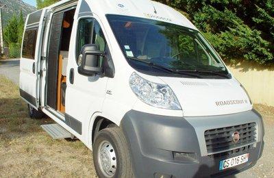 Fourgon aménagé Fiat Ducato en location à Mons