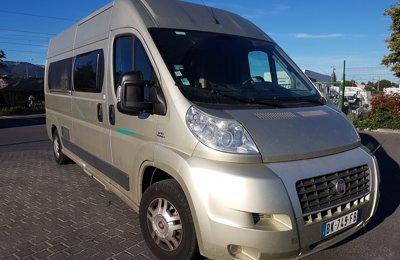 Fourgon aménagé Fiat Chausson Twist 120Cv en location à Saint-Cyr-Sur-Mer