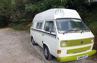 Campervan Volkswagon T25 For hire in Upton