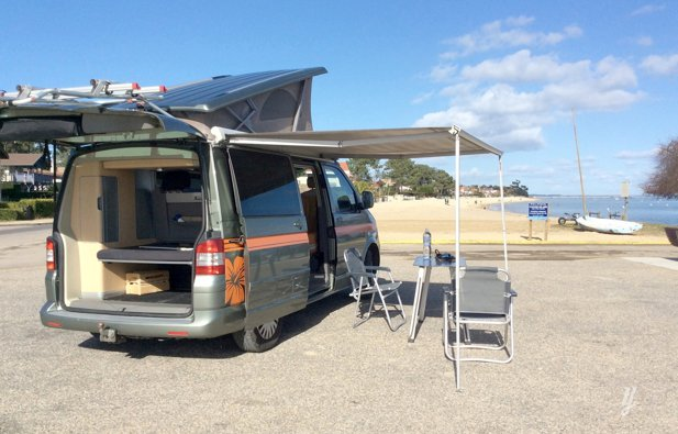 Location du Van Volkswagen T5 California 4 Motion